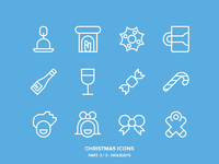 Christmas icons freebie3 holidays lines
