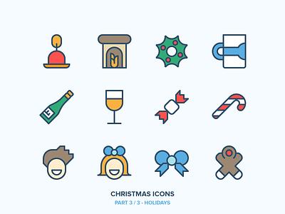 Christmas Icons Freebie 3/3 - Holidays new year winter snowman snow ski owl outdoor holidays freebie christmas outline icons