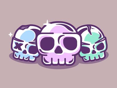 Skulls earrings dead death candy pearls jewels skeleton skull skeletons skulls