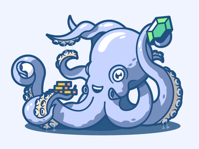 Babylonian octopus money ocean sea pearl rupee coins gold tentacles poulp octopus