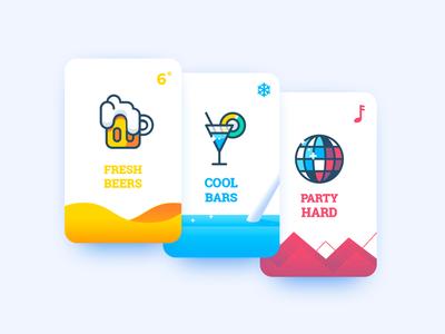 Baroudeur App Splash screen test drinks music bar club disco discoball cocktail beer cards app splashscreen baroudeur