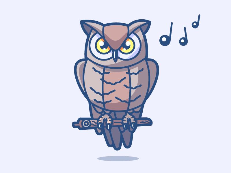 Owl 16/24 feathers animal xmas christmas winter sound music night owl