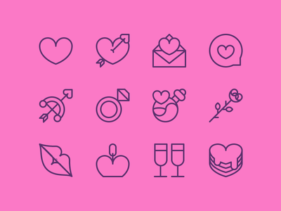 Valentine Icons Freebie champagne ring bow rose icons download freebie freebies pink heart valentine love