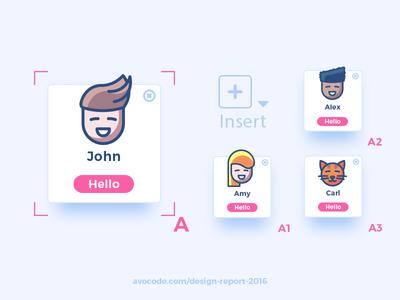 2016 Design Report insert symbol profile cat trends sketch report photoshop illustrators illustrations design avocode