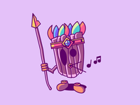Whistling mask - 6/7 Halloween Beasts