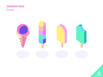 IceCream - 'Summer Food' icon set