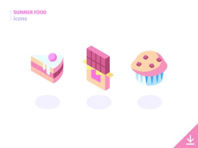 Dessert - 'Summer Food' icon set