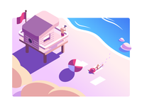 Summer Beach Illustration