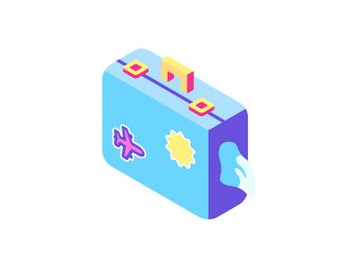 Luggage - Summer beach icons