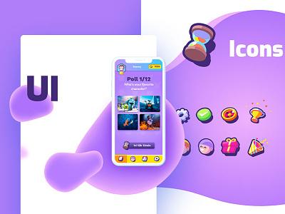 Kids app art direction illustration kids vector app icons icon hourglass phone poll ui artdirection