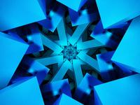 Blue vortex tunnel 3d concept