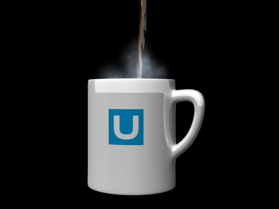 Revital U Mug Draft Still concept render 3dmodeling 3d artist 3d art lightwave liquid animation 3d coffee mug mug design animate animator animation coffee