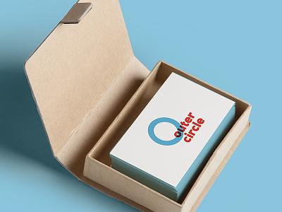 outer circle typography logotype logomark identity icon branding round logo