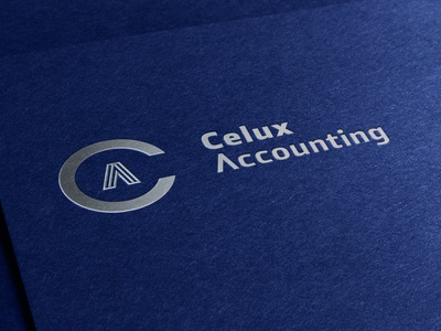 Celux Accounting symbol monogram logomark logo financial emblem crest corporate c branding accounting a