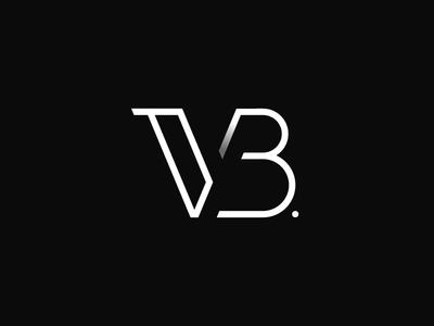 VB Monogram identity type symbol mark vb b v logotype lettering monogram logo branding