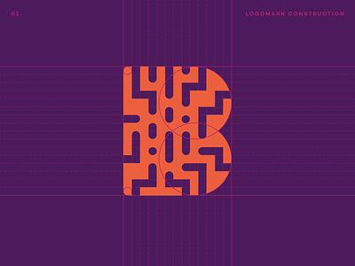 Bitcrowd Logo Mark crypto bitcoin digital tech logo mark b identity branding logomark symbol logo