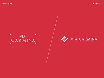 Via Carmina Logo Transformation brand identity design brand identity animation logo inspiration real estate branding real estate corporate branding corporate design logomark mark symbol identity logo rebranding branding