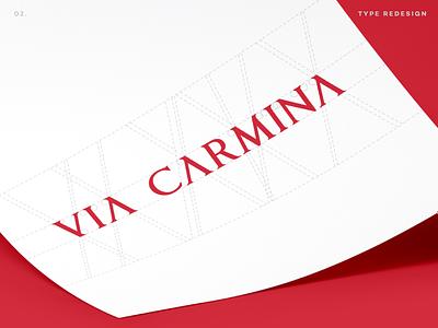 Via Carmina Type Design identity type design logomark brand identity design custom typography lettering typogaphy design logotype logo branding