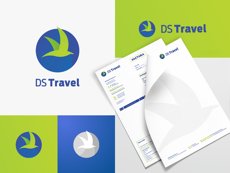 Ds Travel Logo Exploration circles blue and green travel branding travel agency travel color palette colorscheme symbol icon collateral brand collateral design corporate logotype logomark brand identity mark symbol logo identity branding