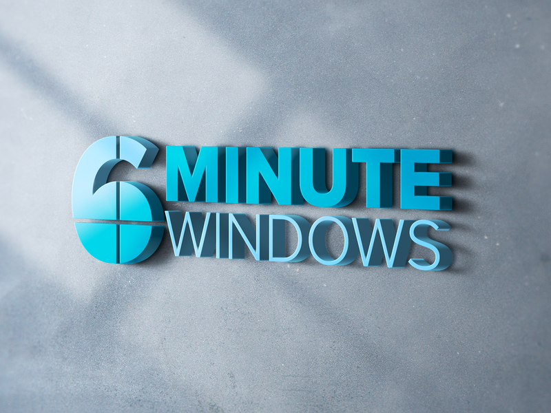 6 Minute Windows Logo home improvement window service home service minimal logo typography branding design