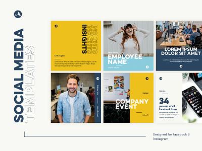VitalStorm - Social Media Templates instagram post post facebook instagram social media typography design branding