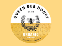 Queen Bee Honey Logo
