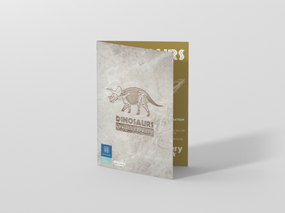 Brochures for Dinosaurs: Fossils Exposed