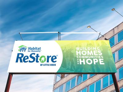 Billboard concept for Habitat for Humanity of Little Rock