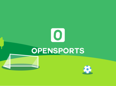 OpenSports Banner fun sports branding sports design art sports logo field green monogram sports