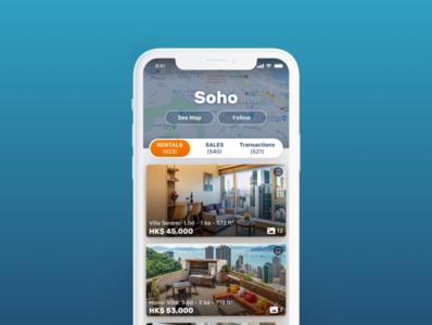 Real Estate App UI Design uidesign app ui