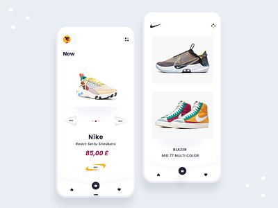 Nike E-commecre UX/ UI Concept trending wishlist cart shopping app e-comerce e-commerce app ecommerce design ecommerce shop ecommerce app ecommerce nike identity clean talavadze design ux ui