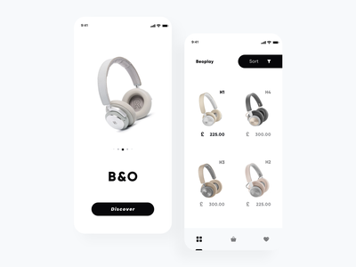 B&O Beoplay Ecommerce ux/ui trendy design shopping app shopping minimal wishlist cart e-commerce shop e-commerce app e-commerce ecommerce app clean talavadze design ux ui