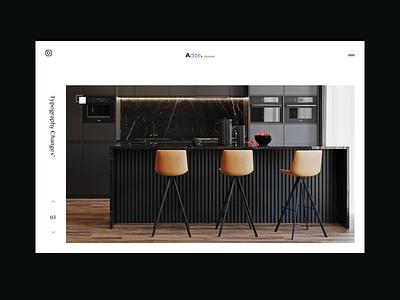 Concept for Interior WebDesign  - Minimalistic website concept website design webdesig interior design trendy clean design minimalistic minimalist minimalism ineraction design showroom slider interior minimal clean talavadze design ux ui