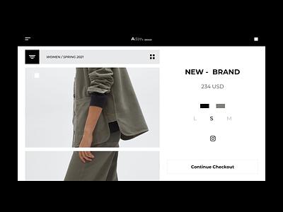 Webdesign Minimal Shop concept dark minimalistic minimalism cart checkout clothing brand e-commerce shop e-commerce eco minimalist webdesign branding website web minimal clean talavadze design ux ui