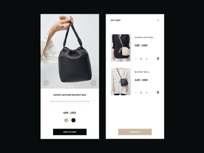 E - Commerce Minimal Concept minimalistic minimal minimalism minimalist shopping shopping cart mobile checkout cart ecommerce design ecommerce branding identity clean talavadze design ux ui