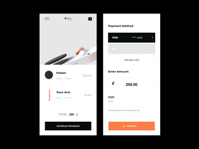 Poduct Design Minimal Concept minimalistic minimalist checkout page buy add card cards payment payments cart checkout landing page mobile inspiration branding minimal clean talavadze design ux ui