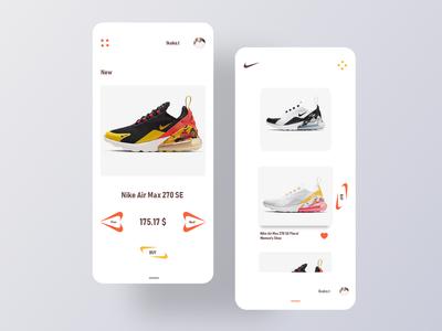 Mobile app Concept shop ux/ui