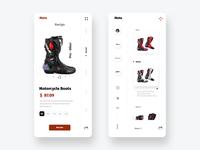 Moto racing Boots - App