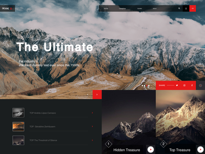 Mountains - Ui -x lists inspiration landing page web design mountain travel dark web clean talavadze ux ui