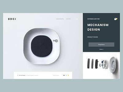 WEB Design - Concept product page clean landing page inspiration product design branding website minimal talavadze design ux ui