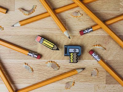 Pencil & Sharpener Enamel pins sharpener pencil enamel pin