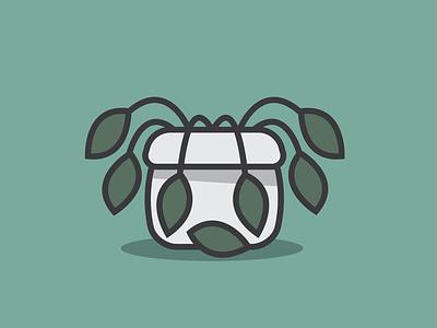 Thirsty illustration plant