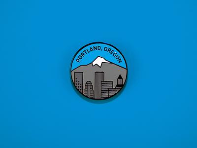 Portland Enamel pin city enamel pin oregon portland pdx