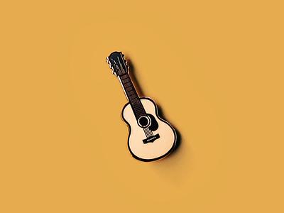 Acoustic Enamel pin music enamel pin acoustic guitar guitar