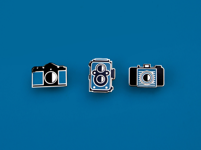 Film Camera Enamel pins