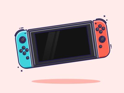 Nintendo Switch Flat Illustration graphic design gaming 2d art 2d flat illustration flatdesign nintendo switch switch nintendo vector illustrator illustration