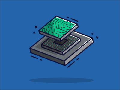 Technology Theme Flat Illustration flat illustration flat minimal branding gaming flatdesign graphic design vector illustrator illustration