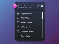 Take Notes Widget UI