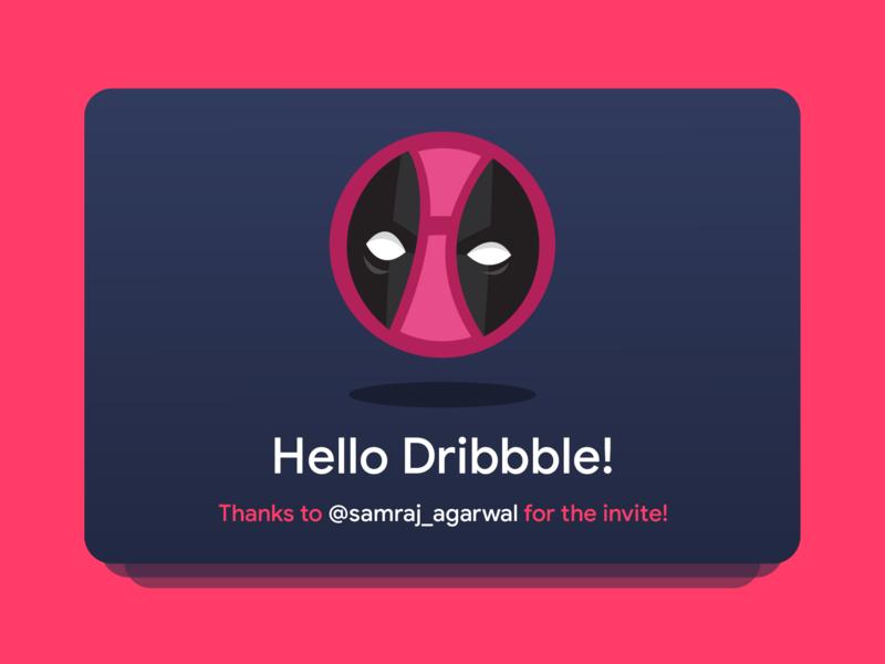 Dribble Player graphic designer marvel invite dribbble deadpool shot first shot vector adobe illustration