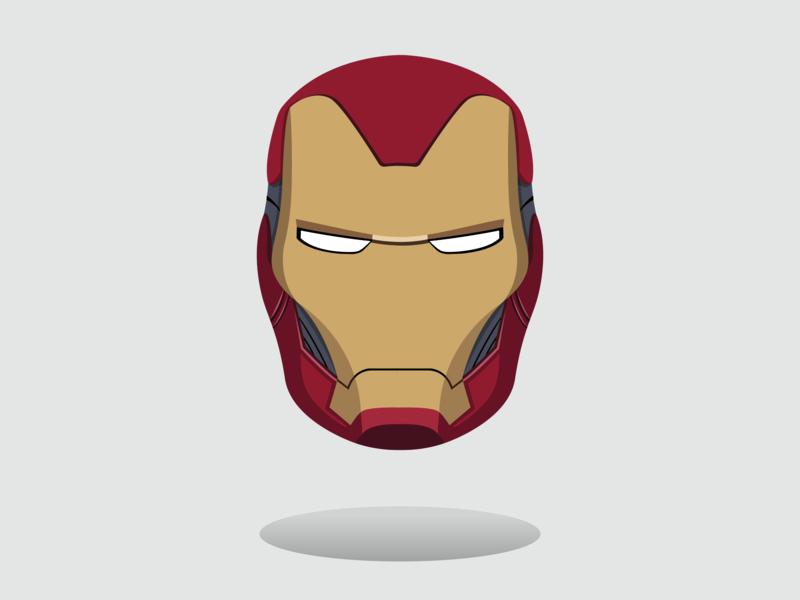 Iron Man Helmet illustration vector adobe endgame avengers marvel ironman illustrator